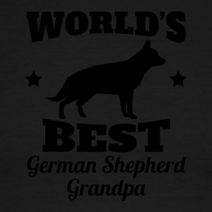 World's Best German Shepherd Grandpa - Men's Ringer T-Shirt
