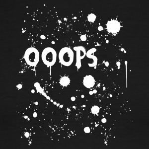 Ooops paint splatter - Men's Ringer T-Shirt