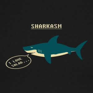 Sharkasm Sea Animal I Love Salad - Men's Ringer T-Shirt