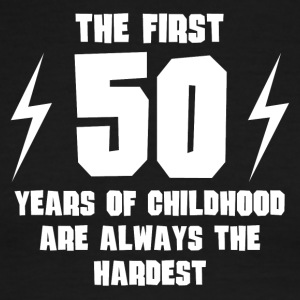 The First 50 Years Of Childhood - Men's Ringer T-Shirt