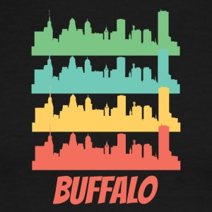 Retro Buffalo NY Skyline Pop Art - Men's Ringer T-Shirt