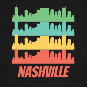 Retro Nashville TN Skyline Pop Art - Men's Ringer T-Shirt