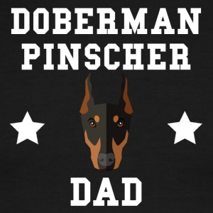Doberman Pinscher Dad Dog Owner - Men's Ringer T-Shirt