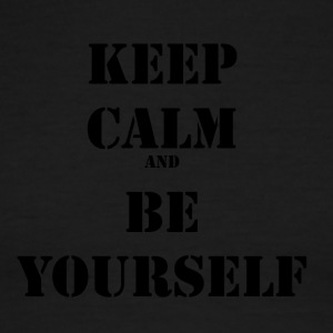 Keep calm and be yourself - Men's Ringer T-Shirt