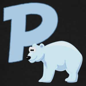 P Is For Polar Bear - Men's Ringer T-Shirt