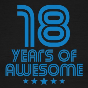 18 Years Of Awesome 18th Birthday - Men's Ringer T-Shirt
