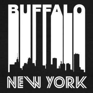Retro Buffalo Skyline - Men's Ringer T-Shirt