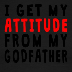 I Get My Attitude From My Godfather - Men's Ringer T-Shirt