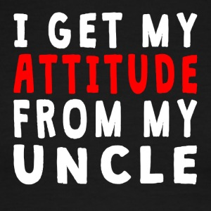 I Get My Attitude From My Uncle - Men's Ringer T-Shirt