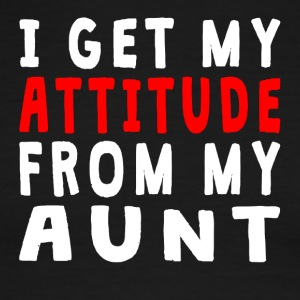 I Get My Attitude From My Aunt - Men's Ringer T-Shirt