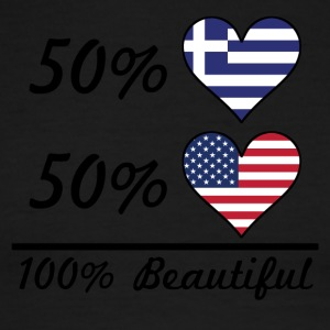 50% Greek 50% American 100% Beautiful - Men's Ringer T-Shirt