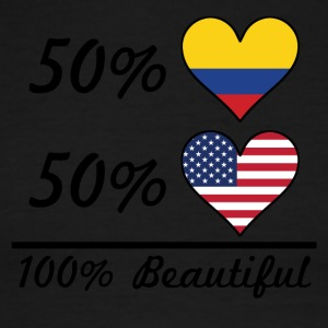50% Colombian 50% American 100% Beautiful - Men's Ringer T-Shirt