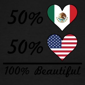 50% Mexican 50% American 100% Beautiful - Men's Ringer T-Shirt
