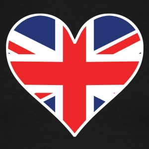 British Flag Heart - Men's Ringer T-Shirt