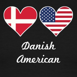 Danish American Flag Hearts - Men's Ringer T-Shirt