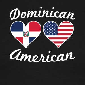 Dominican American Flag Hearts - Men's Ringer T-Shirt