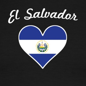 El Salvador Flag Heart - Men's Ringer T-Shirt