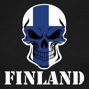 Finnish Flag Skull Finland - Men's Ringer T-Shirt