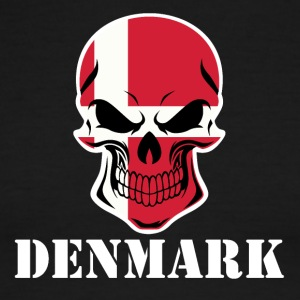 Danish Flag Skull Denmark - Men's Ringer T-Shirt