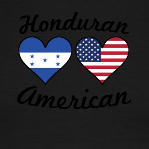 Honduran American Flag Hearts - Men's Ringer T-Shirt