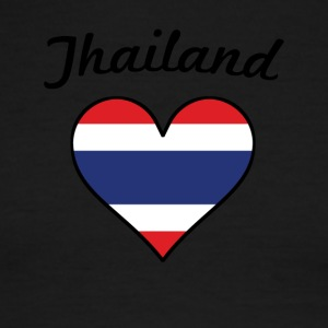 Thailand Flag Heart - Men's Ringer T-Shirt