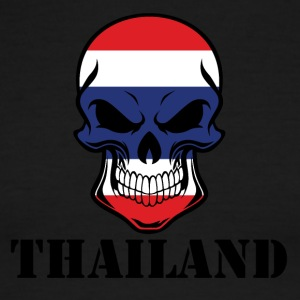 Thai Flag Skull Thailand - Men's Ringer T-Shirt