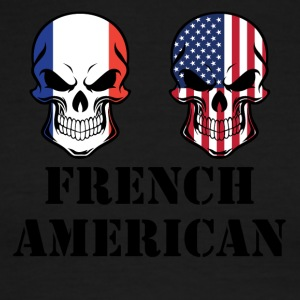 French American Flag Skulls - Men's Ringer T-Shirt