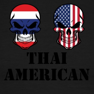 Thai American Flag Skulls - Men's Ringer T-Shirt