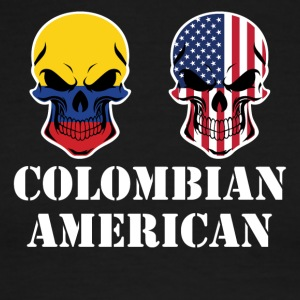 Colombian American Flag Skulls - Men's Ringer T-Shirt