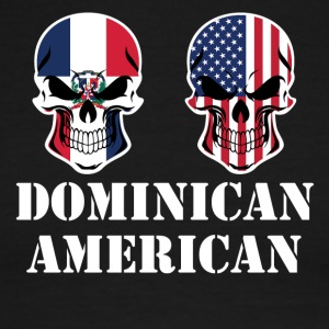 Dominican American Flag Skulls - Men's Ringer T-Shirt