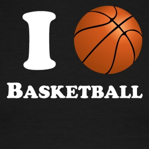 I Heart Basketball - Men's Ringer T-Shirt