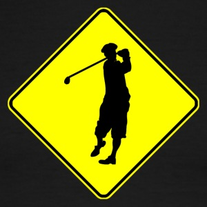 Golfer Crossing - Men's Ringer T-Shirt