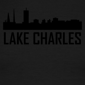 Lake Charles Louisiana City Skyline - Men's Ringer T-Shirt