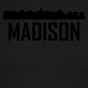 Madison Wisconsin City Skyline - Men's Ringer T-Shirt