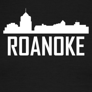 Roanoke Virginia City Skyline - Men's Ringer T-Shirt
