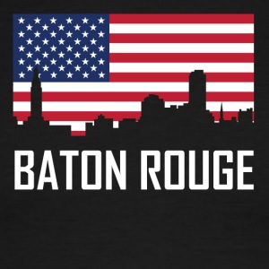 Baton Rouge Louisiana Skyline American Flag - Men's Ringer T-Shirt
