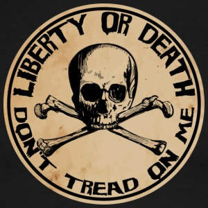 Liberty or Death Dont Tread On Me - Men's Ringer T-Shirt