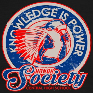 KNOWLEDGE IS POWER Honor Society CENTRAL HIGH SCHO - Men's Ringer T-Shirt