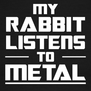 My Rabbit listens to metal - Men's Ringer T-Shirt