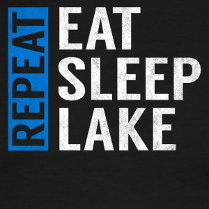 Eat Sleep Lake Repeat Funny Camper Camping Gift - Men's Ringer T-Shirt