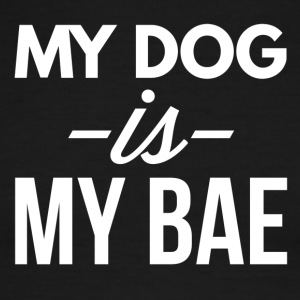 My dog is my bae - Men's Ringer T-Shirt