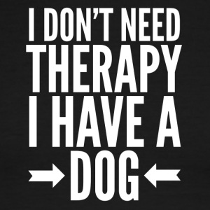 Dog therapy - Men's Ringer T-Shirt