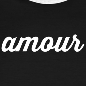 Amour - Cursive Design (White Letters)) - Men's Ringer T-Shirt