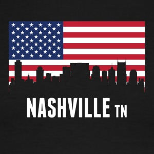 American Flag Nashville Skyline - Men's Ringer T-Shirt