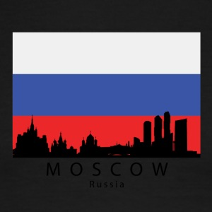 Moscow Russia Skyline Russian Flag - Men's Ringer T-Shirt