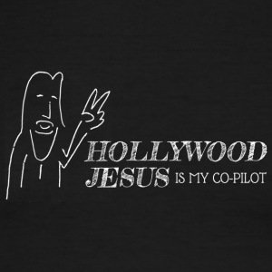 Hollywood Jesus Horizontal (Light) - Men's Ringer T-Shirt