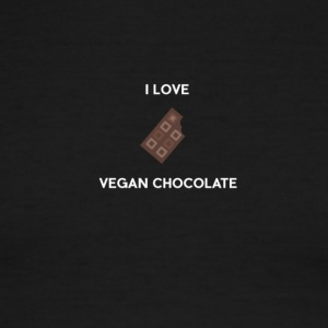 I LOVE VEGAN CHOCOLATE - Men's Ringer T-Shirt