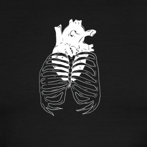 Heart Cage (white) - Men's Ringer T-Shirt