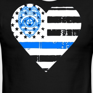 Police Thin Blue Line T shirts - Men's Ringer T-Shirt