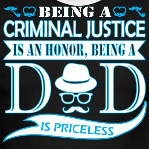 Being Criminal Justice Honor Being Dad Priceless - Men's Ringer T-Shirt